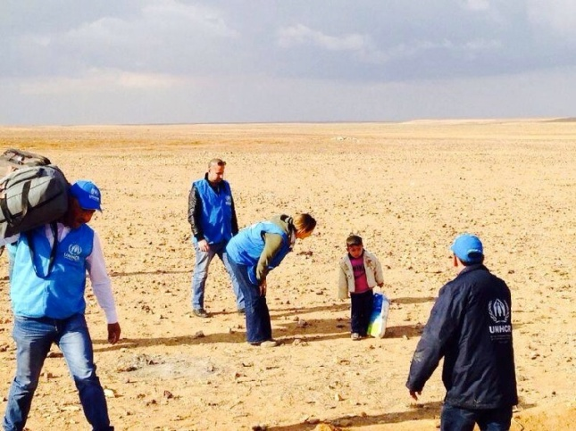 A 4-year-old Syrian refugee who was discovered alone in the middle of the desert