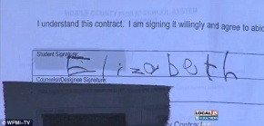 Angry: The girl's mother is furious that the school made her daughter sign the form without consent