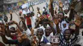 Buhari supporters celebrate in Kano [Reuters]