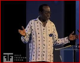 "George Ayittey, the distinguished Ghanaian economist, and arguably one of the ""Top 100 Public Intellectuals"""