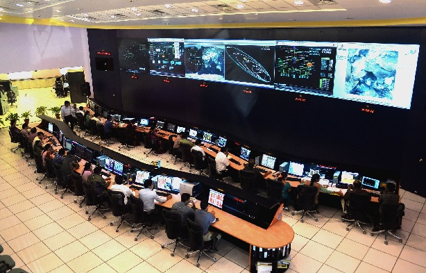 The tracking center in Bangalore, which will track the Mars mission. Credit Manjunath Kiran/Agence France-Presse — Getty Images