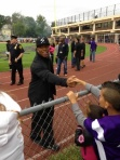 Ray Rice shakes hands with young fans