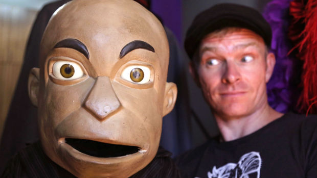 South African comedian Conrad Koch with his puppet 'Chester Missing.' The ventriloquist says he will challenge a gag order against his puppet (Photo: Schalk van Zuydam/Associated Press)
