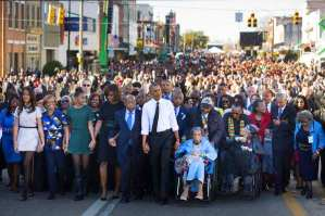 Obama, at Selma Memorial, Says, 'We Know the March Is Not Yet Over'. March 7, 2015