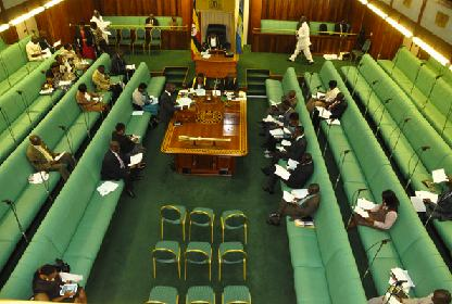 A handful of legislators during a session at Parliament recently. Monitor photo