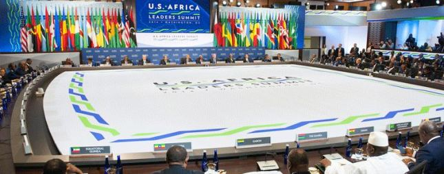 President Barack Obama delivers remarks at the U.S.-Africa Leaders Summit Session One, U.S. Department of State on August 6, 2014 (Wikipedia)