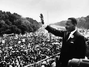 "Dr. Martin L. King Jr. at DC Mall in 1963 -""I have a dream Speech"""